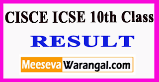 CISCE ICSE10th Class Result 2017