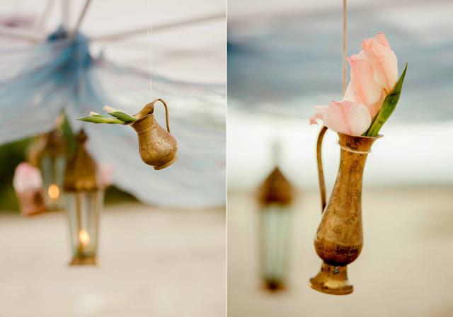 Orientalna aranżacja sesji ślubnej.