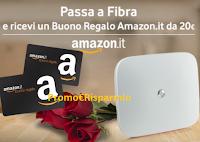 Logo Passa a Vodafone Fibra e ricevi un buono Amazon da 20€!
