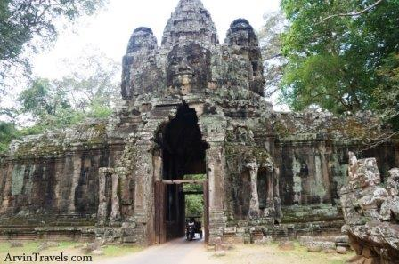 East ancient gate to Angkor Thom