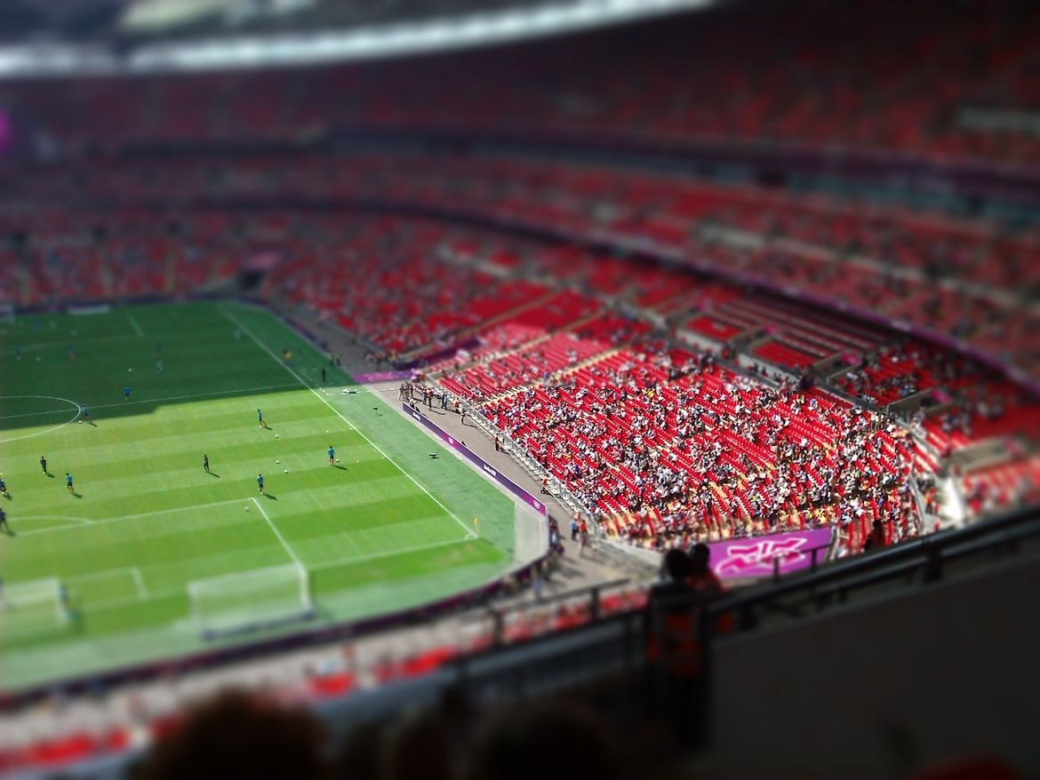 27. Photograph Wembley Stadium (Olympics) Tilt-shift by Matt Davison