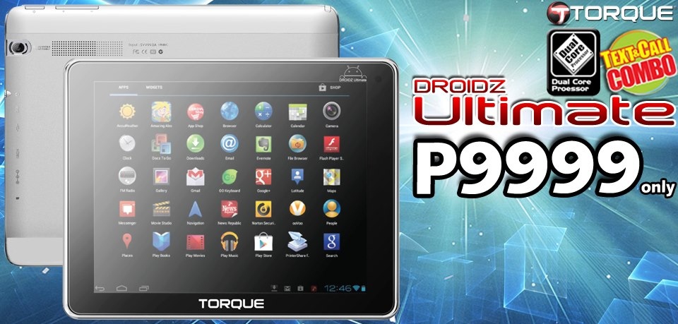 Torque DROIDZ Ultimate Call & Text Tablet: Specs, Price and