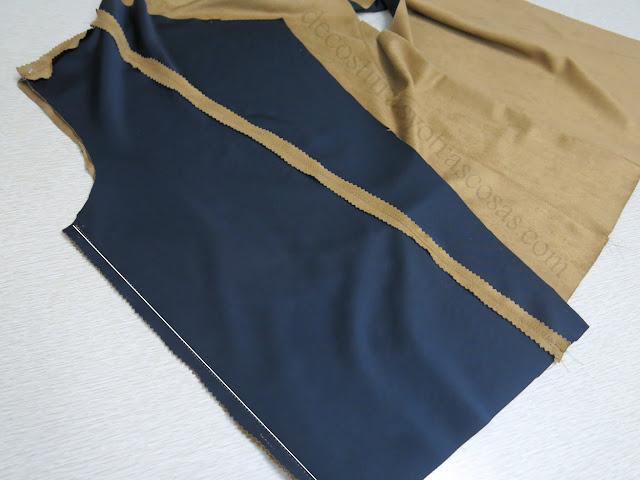 chaqueta corta de gamuza imitación tutorial