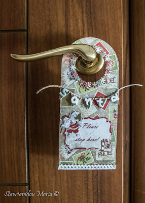 Christmas door hanger by Diy My Day