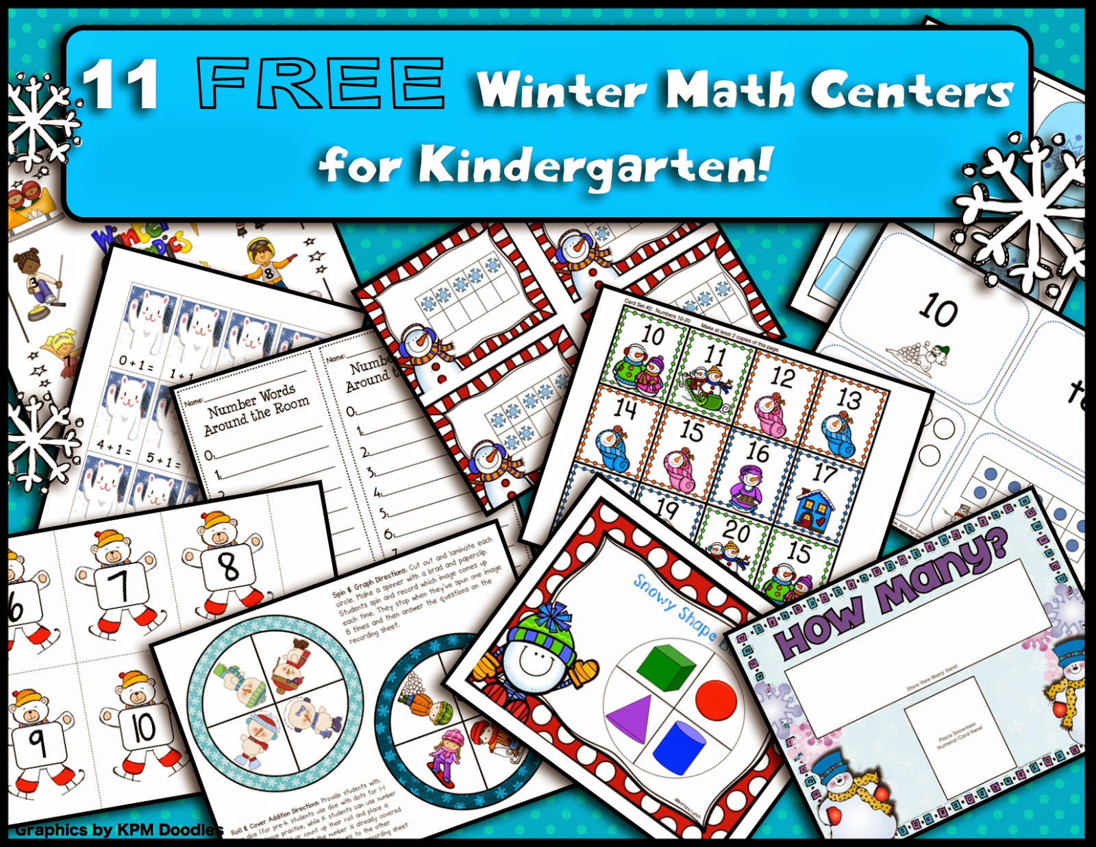 Teacher Tam S Educational Adventures 11 Free Winter Math