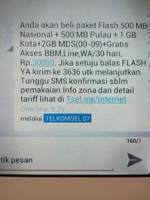 Trik Beli Paket telkomsel Flash 4 GB 30 ribu