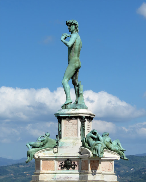 Copy of the David by Michelangelo, Piazzale Michelangelo, Florence
