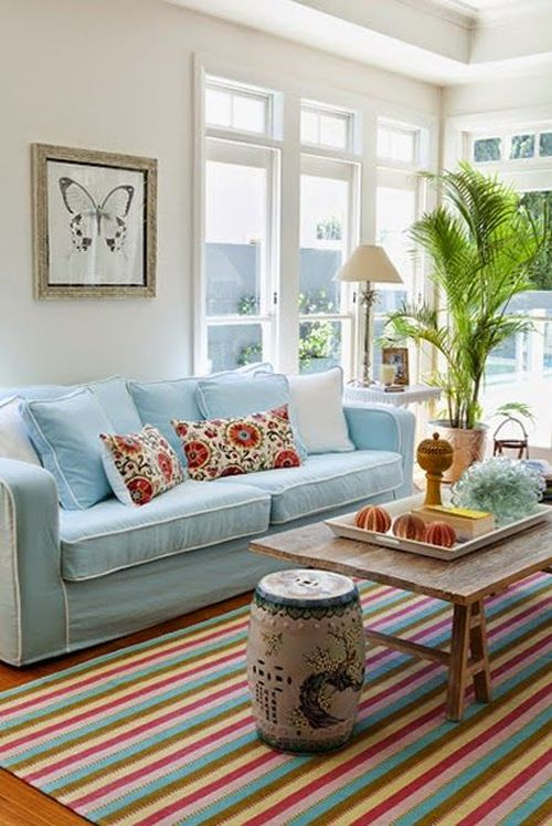 colorful and natural living room