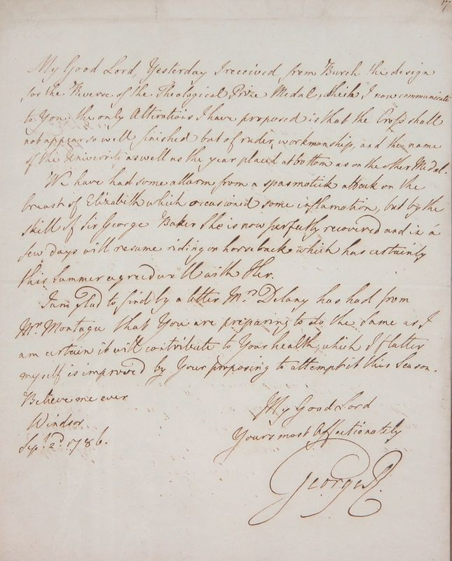 a letter to king george iii A draft letter of abdication written by king george iii during the american war of independence is among royal papers which will be available for public viewing for the first time.