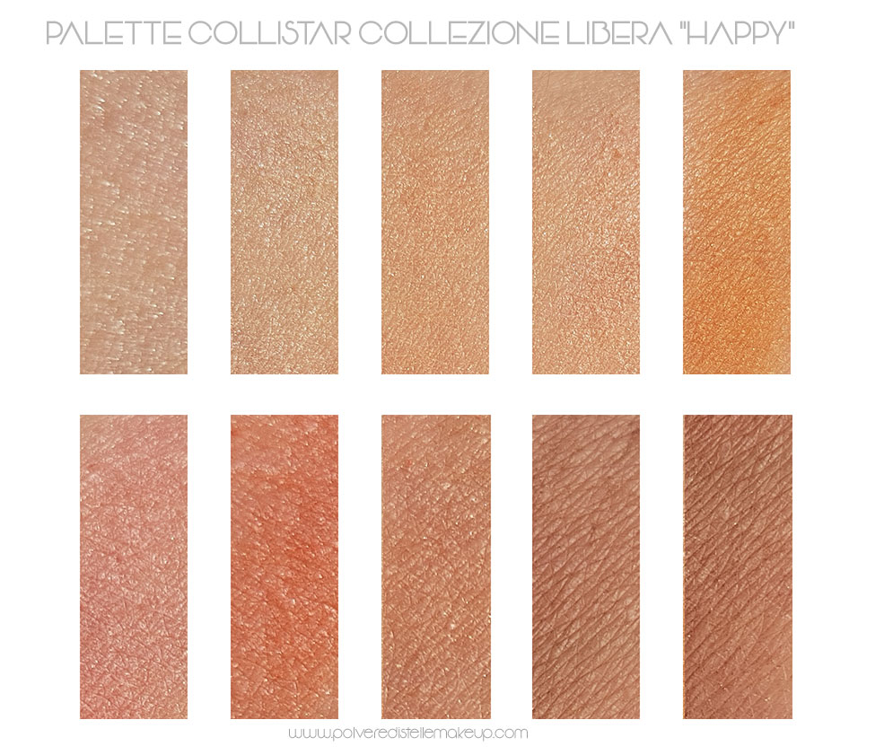 Palette Libera 10 ombretti Happy Collistar swatches