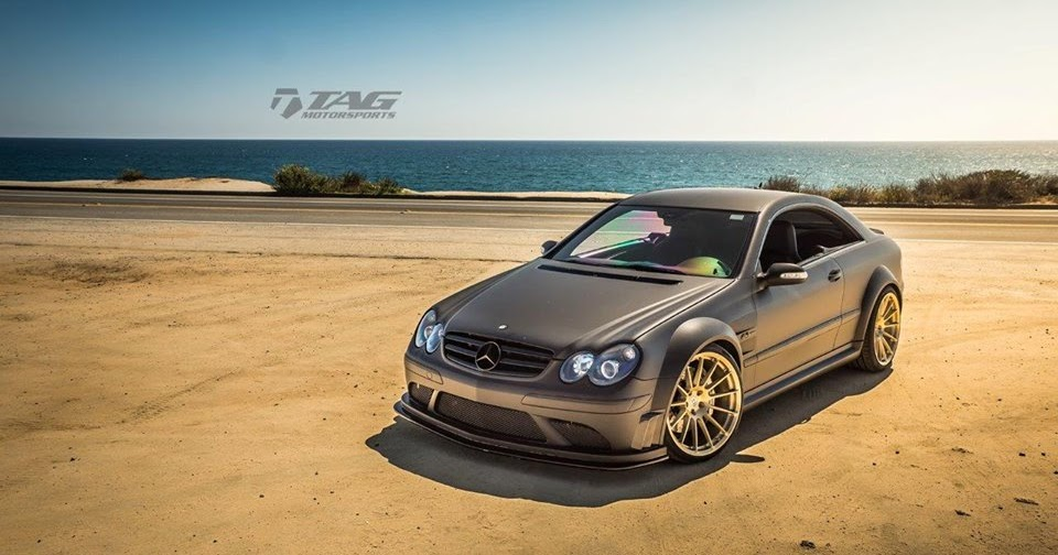 Mercedes benz w209 clk63 amg black series on hre for Mercedes benz e series amg