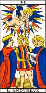 Los Enamorados. Arcano VI- Tarot de Marsella