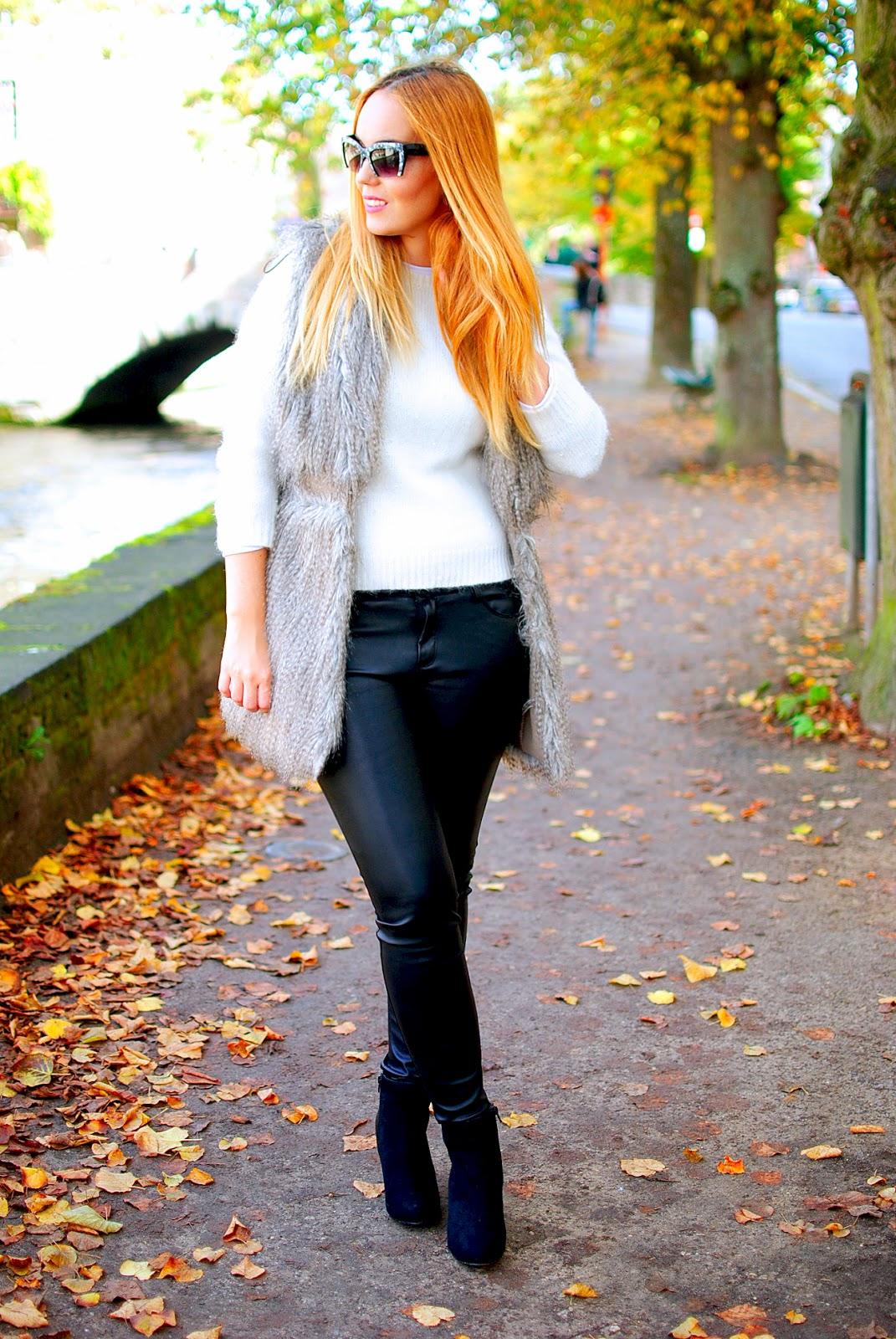 nery hdez, fur vest, leather pants, chaleco de pelo, zerouv, miu miu clon