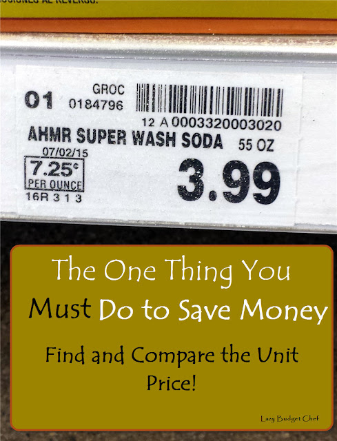how to find and calcuate the unit price to save money
