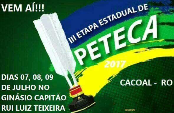 3ª Etapa do Campeonato Rondoniense de Peteca é neste fim de semana em Cacoal
