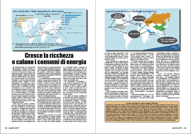 APRILE PAG. 24 - Cresce la ricchezza e calano i consumi di energia