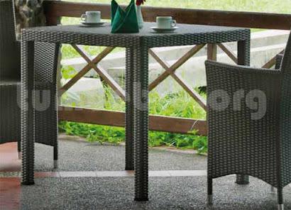 mesa comedor terraza en rattan sintetico 6067