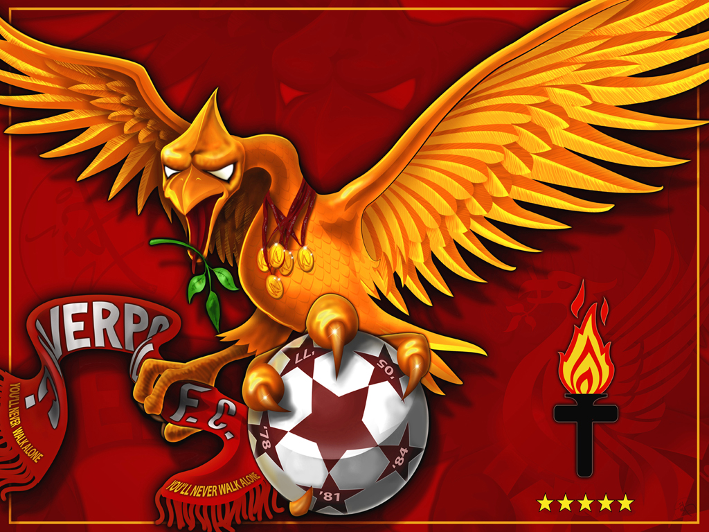 Football Wallpaper Amazon Co Uk: Liverpool FC Wallpapers: Liver Bird (Collection 1
