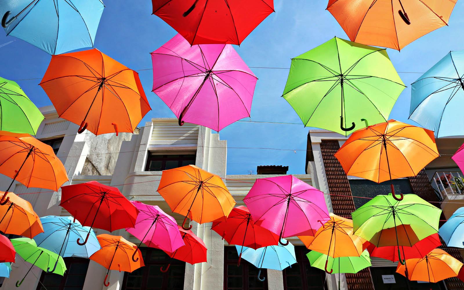 Wallpapers Colorful Umbrellas