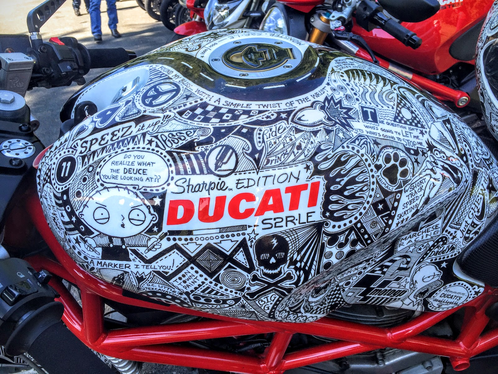 Sharpie Edition Ducati Monster S2R by Jody Whitsell