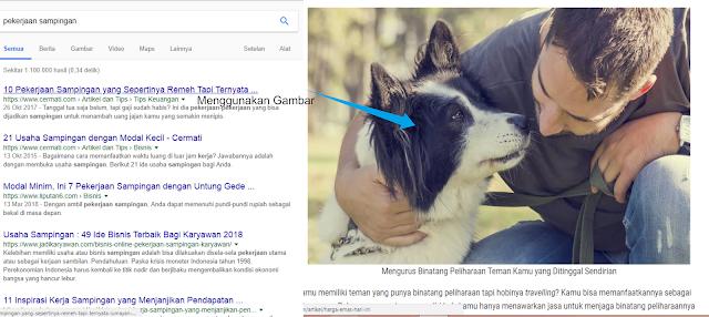 studi kasus kedua pengaruh gambar terhadap peringkat google