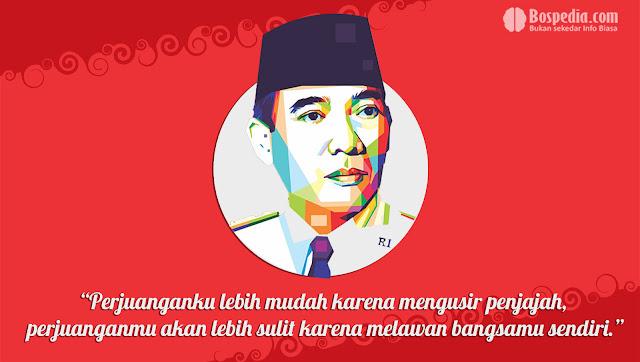 Kartu kata kata Kemerdekaan Presiden Soekarno