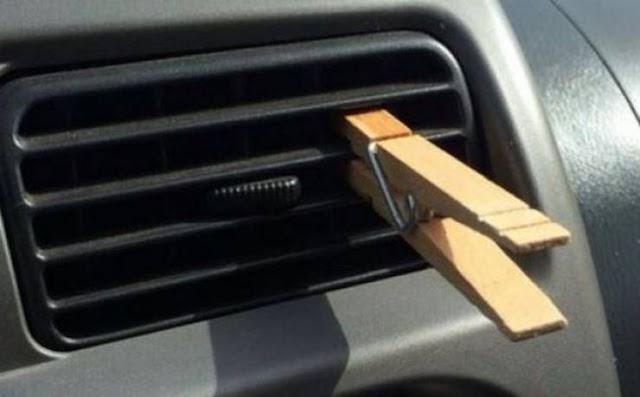 لن تصدقوا سبب وضع ملقط الغسيل على فتحات المكيف في السيارة! إليكم السبب.. مؤكد أنكم ستفعلون الشيء ذاته...