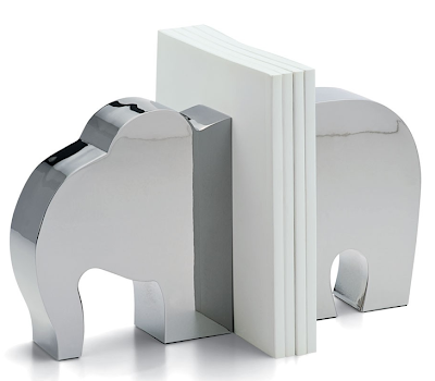 elephant bookends, nickel