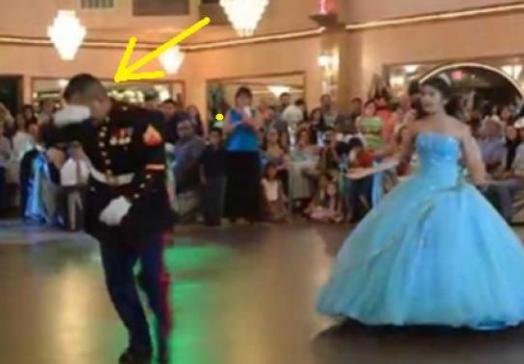 عندما بدأ هذا الأب بالرقص مع ابنته.. لم يتخيل أحد انه سيفعل هذا الأمر شاهد ماذا فعل الاب و ابنته امام الحضور