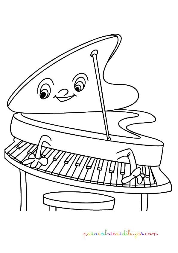Dibujo Para Colorear Piano De Cola