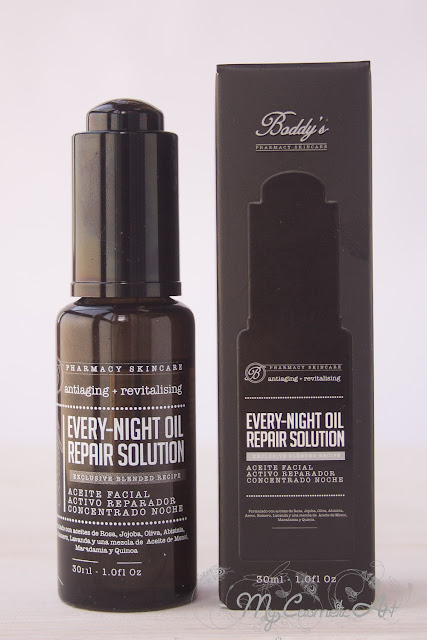 Aceites faciales de Boddy's: Every-day/night oil repair solution.