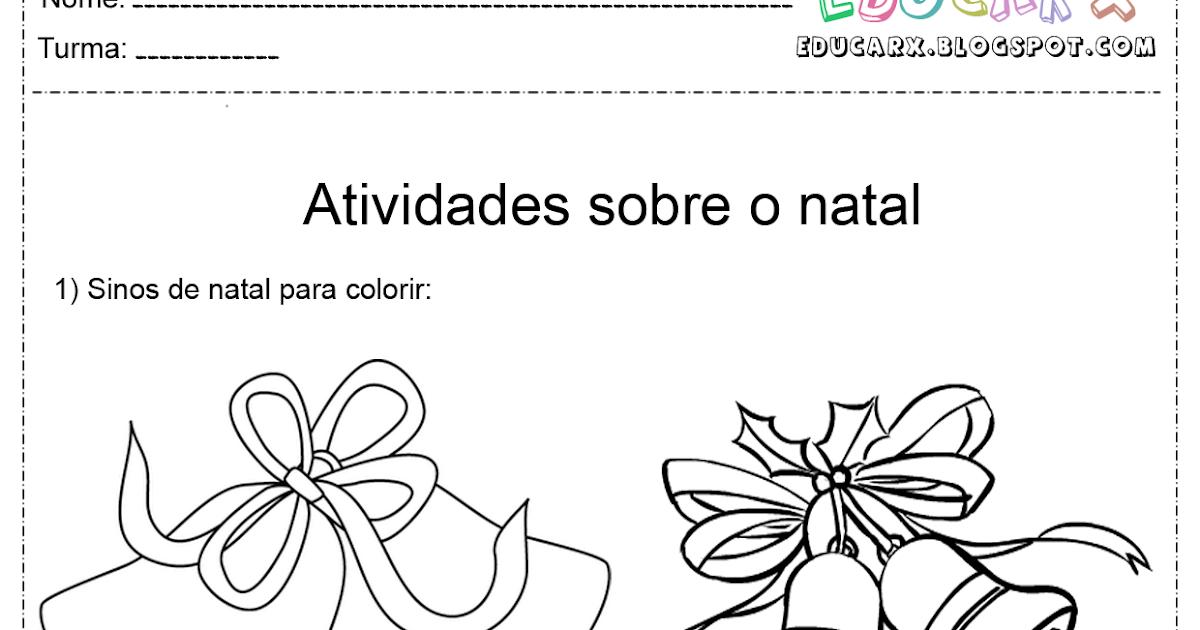 Atividades Escolares: Sinos De Natal Para Colorir E Imprimir
