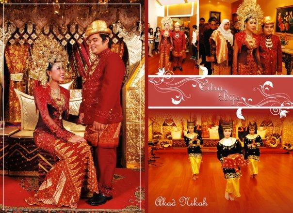 foto pernikahan adat minang