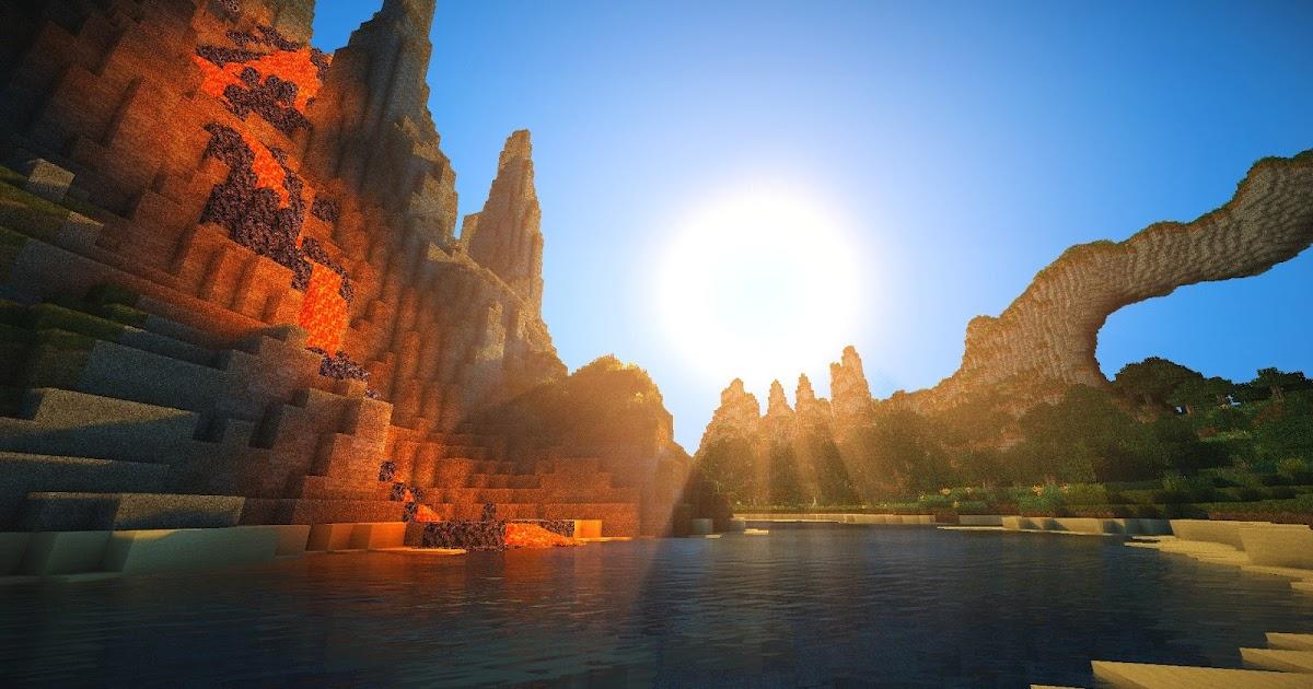Download Minecraft Sunset Wallpaper