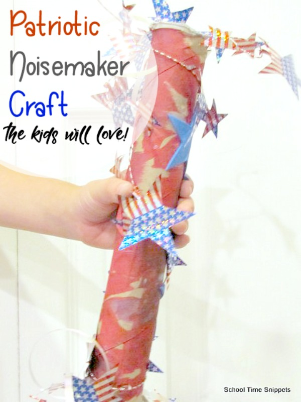 Patriotic Noisemaker Craft