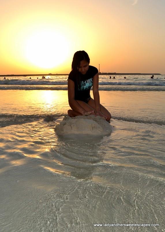 sunset at JBR beach Dubai