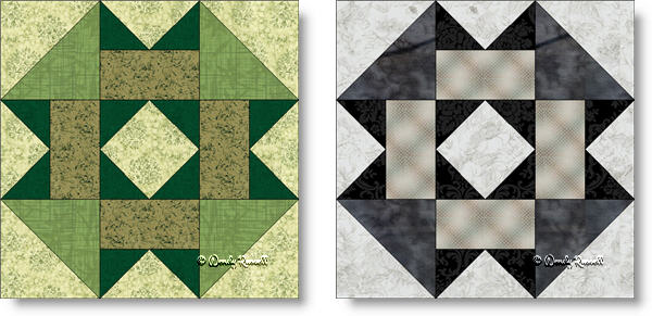 Garden Square quilt block images © Wendy Russell