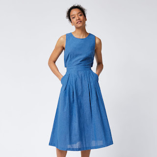 Warehouse Tie Back Midi Dress - Reading, Writing, Booking