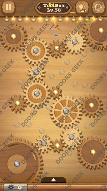 Fix it: Gear Puzzle [ToolBox] Level 38 Solution, Cheats, Walkthrough for Android, iPhone, iPad and iPod