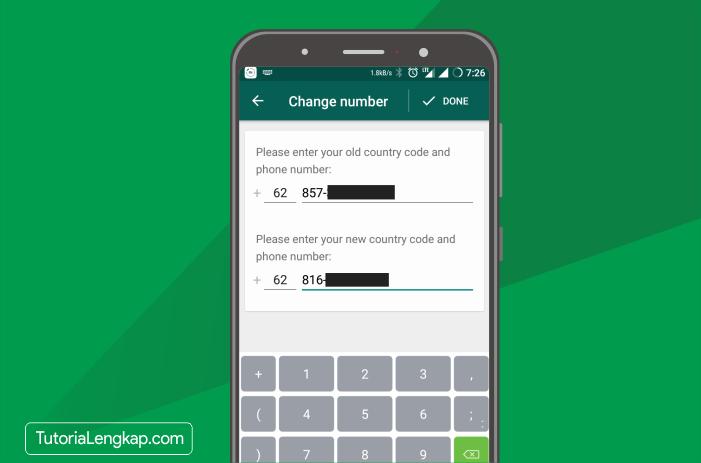 tutorialengkap 5 cara mengganti nomor whatsapp yang sudah mati