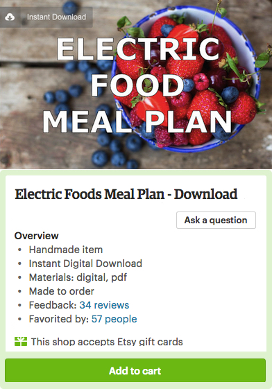 Electric Food Meal Plan