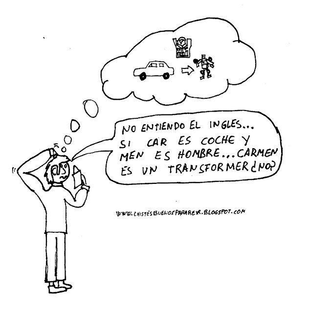 No entiendo el inglés... si car es coche y men es hombre... Carmen es un transformer ¿no?