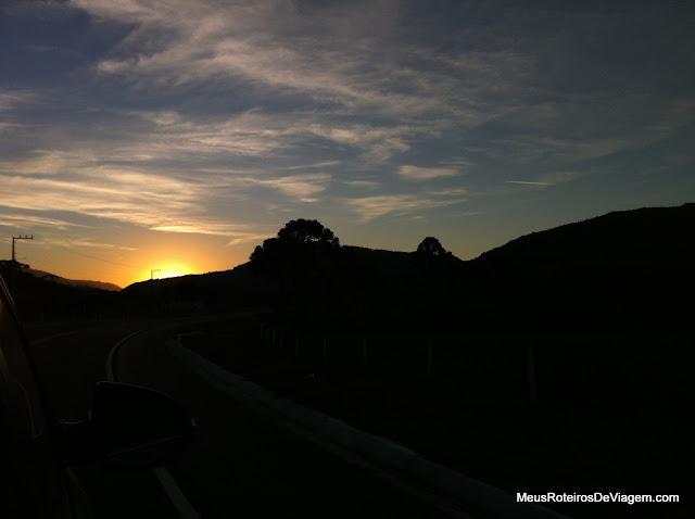 Por do sol em Urubici - SC
