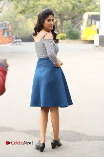 Telugu Actress Roshini Prakash Stills Short Dress at Saptagiri Express Release Press Meet  0225.JPG