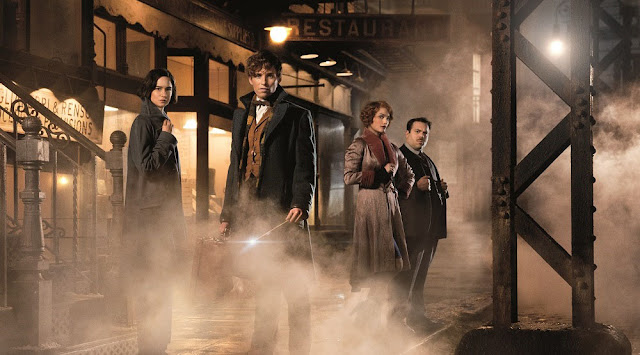 fantastic beasts movie still main characters