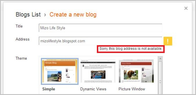 blogger blogspot domain address theih loh