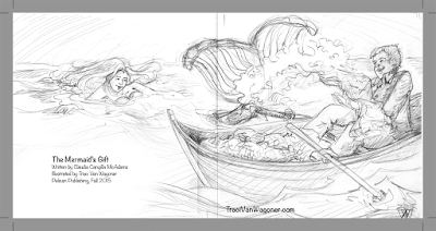 Sketches for The Mermaid's Gift illustrated by Traci Van Wagoner