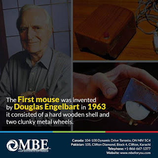 The First Mouse was invented by Douglas Engelbert