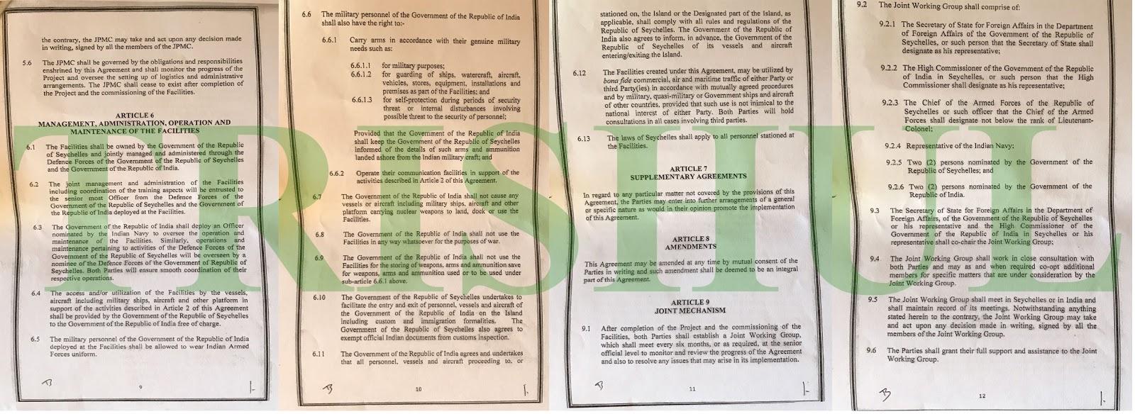 TRISHUL: India-Seychelles Agreement On Creation Of Logistics ...
