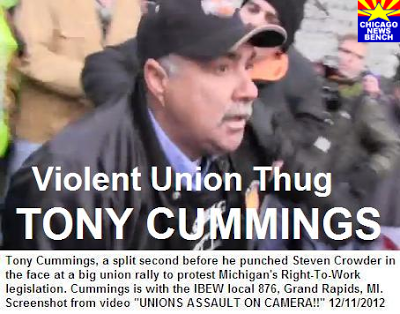 Union Thug Tony Cummings Attacking Steven Crowder